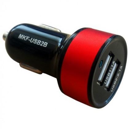 Autonabíječky (12V) Micro USB do auta s 2 USB sloty MKF-USB2B