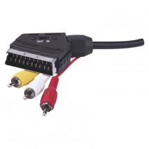 AV kabel Emos SB2101, 3xscart/cinch, 1,5m