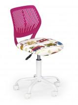 BALI - dětská židle, růžová vláčky, regulace výšky sedáku