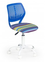 BALI - dětská židle, vlnky modrá, regulace výšky sedáku