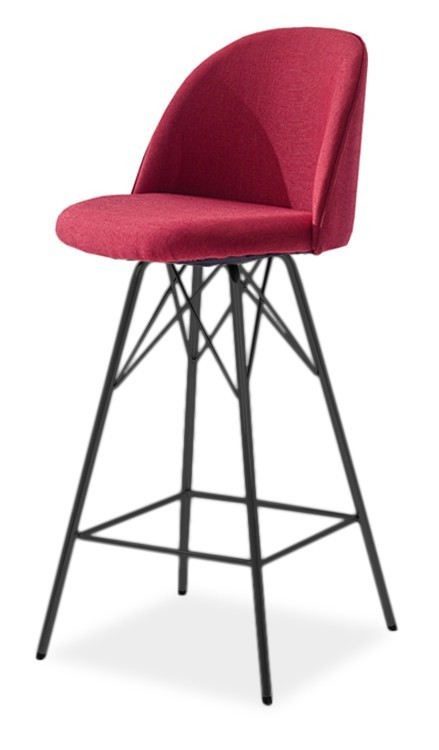 Barová židle ALLY 9368-228+PORGY BAR 9340-824 (červená,černá)