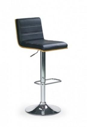 Barová židle Barová židle H-31 (ořech/eco kůže černá/chrom)