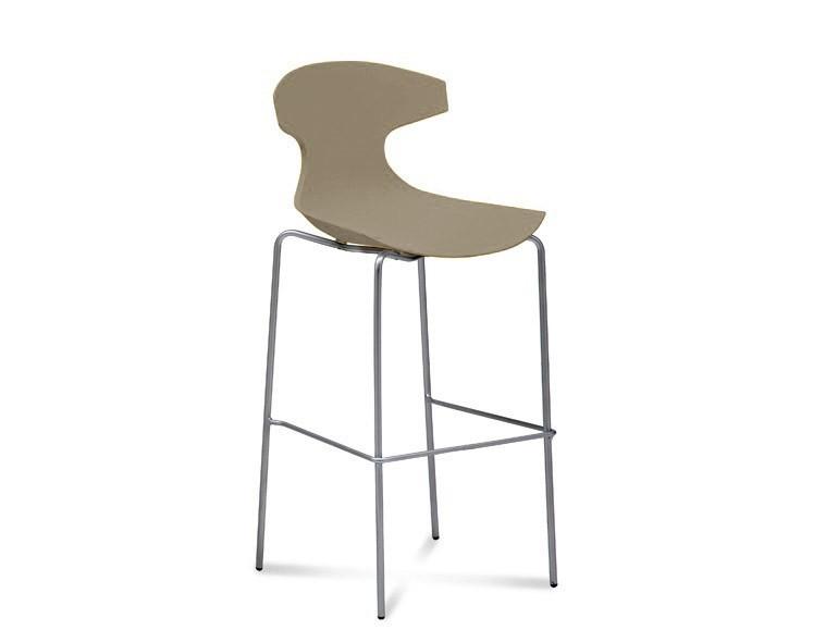 Barová židle Echo-Sgb - Barová židle (chrom, písková)
