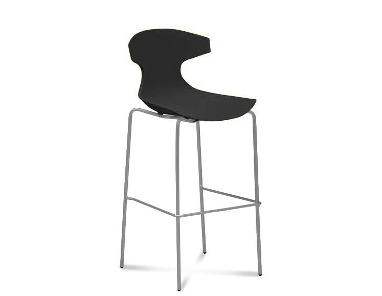 Barová židle Echo-Sgb - Barová židle (hliník, černá)