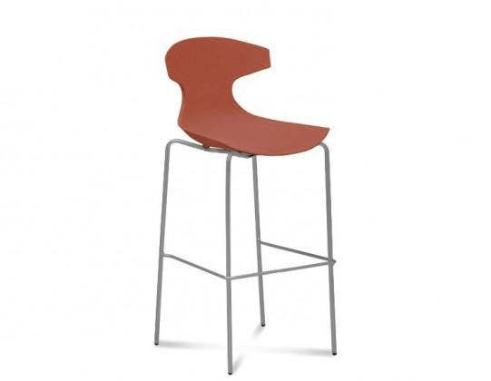 Barová židle Echo-Sgb - Barová židle (hliník, cihlově červená)