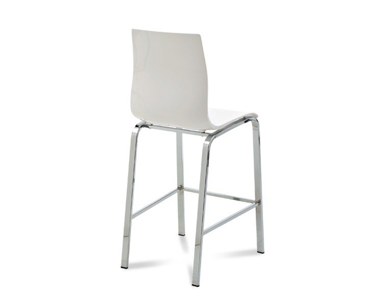 Barová židle Gel-R-Sgb - Barová židle (hliník, bílá)