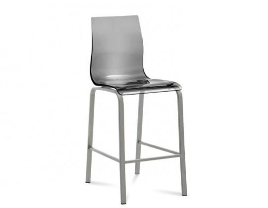 Barová židle Gel-R-Sgb - Barová židle (hliník, kouřově šedá)