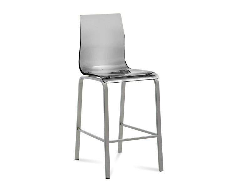 Barová židle Gel-R-Sgb - Barová židle (hliník, průhledná)