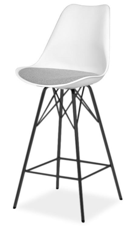 Barová židle GINA 9361-413+PORGY BAR 9340-824 (bílá,šedá,černá)