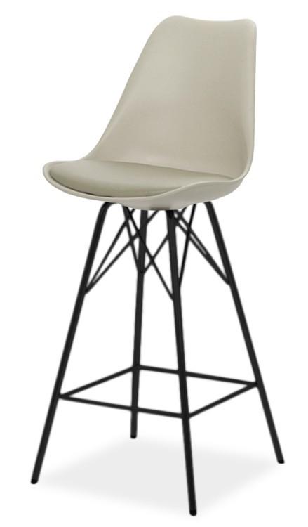 Barová židle GINA 9361-883+PORGY BAR 9340-824 (béžová,černá)