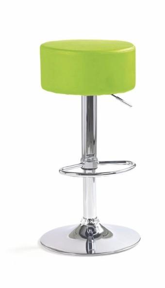 Barová židle H-23 (eco kůže limetová,chrom)