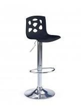 Barová židle H-48 (černá/chrom)
