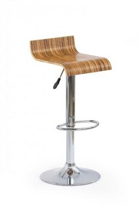 Barová židle H-5 (dýha zebrovaná,chrom)