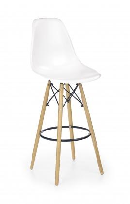 Barová židle H-51 (masivní dřevo/bílá)