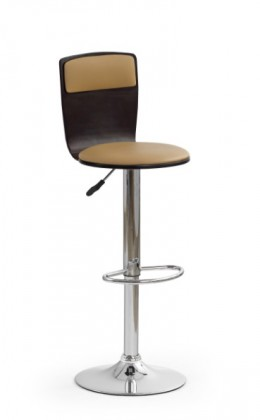 Barová židle H-7 (wenge,eco kůže coffee,chrom)