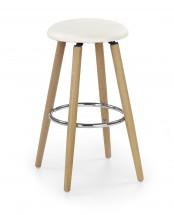 Barová židle H-76 ( masivní bukové dřevo/béžová)
