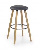 Barová židle H-76 (masivní bukové dřevo/podsedák černý)