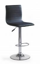 Barová židle H21 (černá/stříbrná)