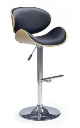 Barová židle H44 (dub/černá)
