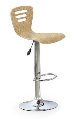 Barová židle H6 (světlé hnědá)