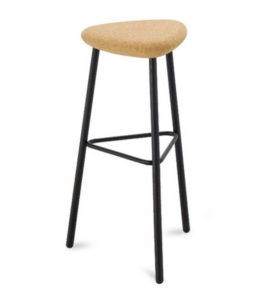 Barová židle Pick-M-Sga - Barová židle (černá mat, přírodní korek)