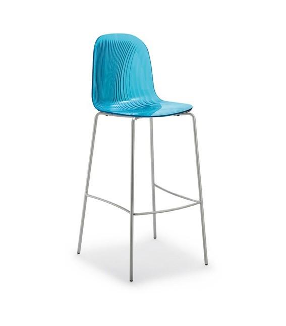 Barová židle Playa-Sgb (chromovaná ocel, světle modrá)