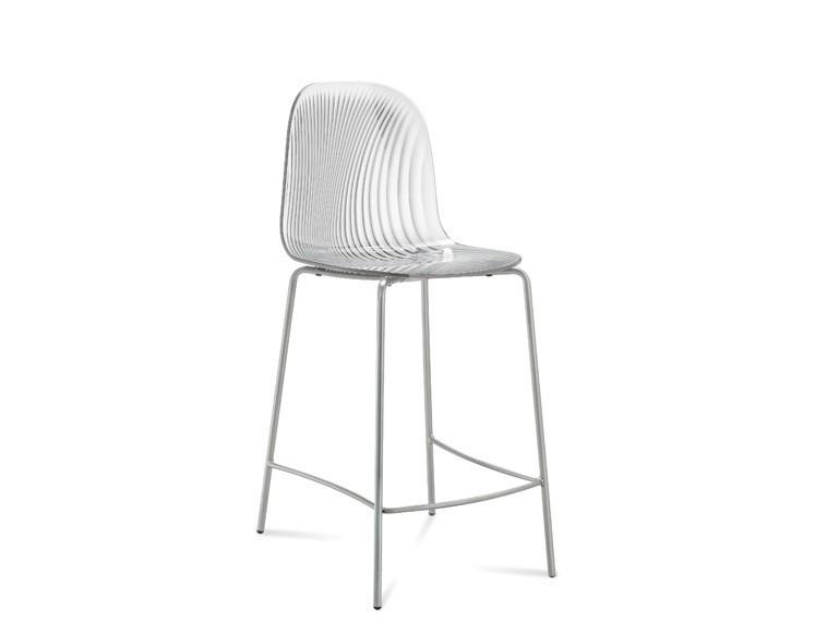 Barová židle Playa-Sgb (chromovaná ocel, transparentní)