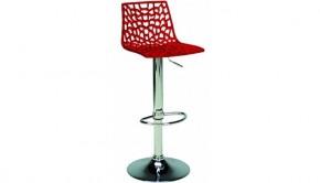 Barová židle Spider (červená) - II. jakost