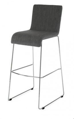 Barová židle Susan(šedá/chrom)