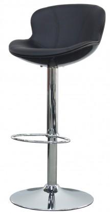 Barová židle Tequila - Barová židle (bílá, eko kůže černá)