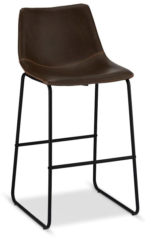 Barové židle Barová židle Guaro tmavě hnědá, černá