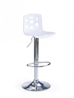 Barové židle Barová židle H-48 (bílá/chrom)