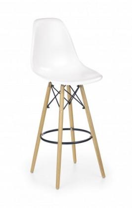 Barové židle Barová židle H-51 (masivní dřevo/bílá)