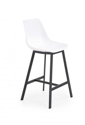 Barové židle Barová židle Isa (plast, kov, bílá)