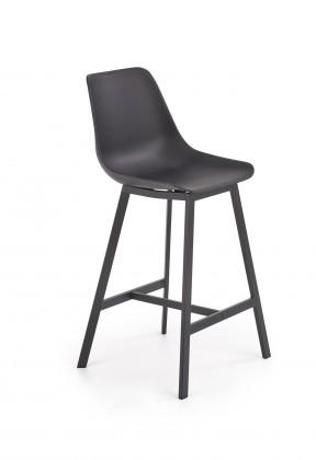 Barové židle Barová židle Isa (plast, kov, černá)