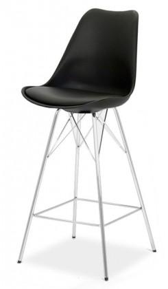Barové židle GINA 9361-824+PORGY BAR 9340-091 (černá,chrom)