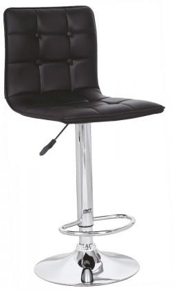 Barové židle H29 - Barová židle (černá, stříbrná)