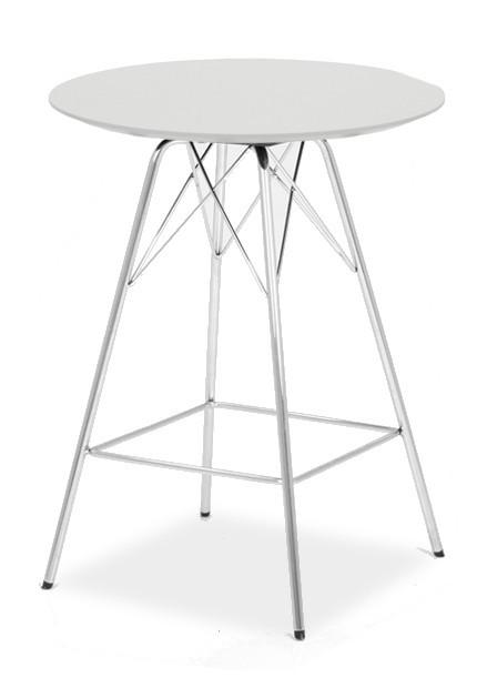 Barový stůl LOLA 9306-001+PORGY BAR 9340-091 (bílá,chrom)