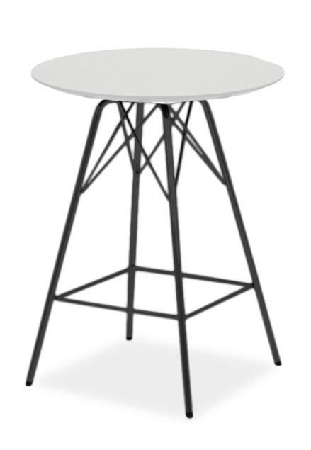 Barový stůl LOLA 9306-001+PORGY BAR 9340-824 (bílá,černá)