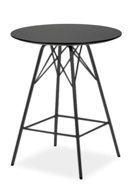 Barový stůl LOLA 9306-024+PORGY BAR 9340-824 (černá)