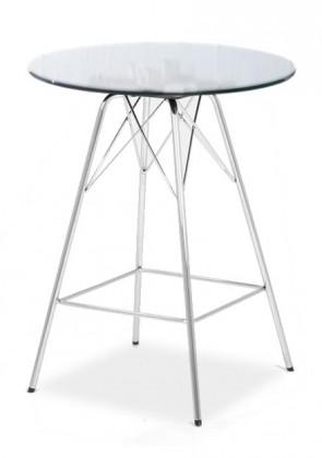 Barový stůl LOLA 9307-090+PORGY BAR 9340-091 (čiré sklo,chrom)