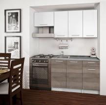 Basic - Kuchyňský blok A, 180/120 cm (bílá, trufle, titan)