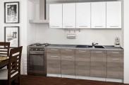 Basic - Kuchyňský blok B, 200 cm (bílá, trufle, titan)