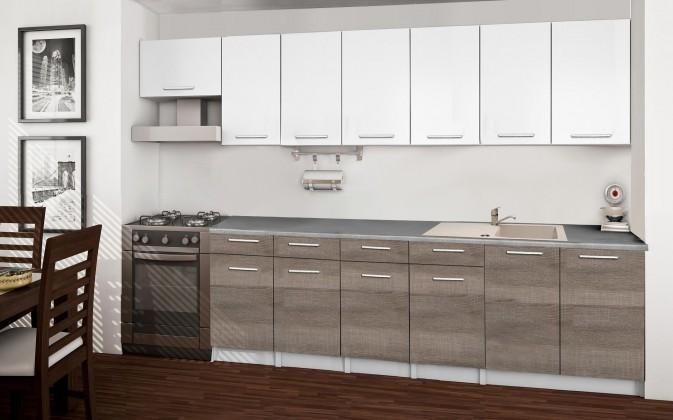 Basic - Kuchyňský blok B, 300/240 cm (bílá, trufle, titan)