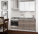 Basic - Kuchyňský blok C, 180/120 cm (bílá, trufle, titan)