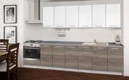 Basic - Kuchyňský blok C, 300/240 cm (bílá, trufle, titan)
