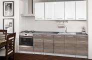 Basic - Kuchyňský blok D, 260/200 cm (bílá, trufle, titan)