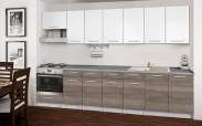 Basic - Kuchyňský blok D, 300 cm (bílá, trufle, titan)