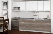 Basic - Kuchyňský blok F, 260/200 cm (bílá, trufle, titan)