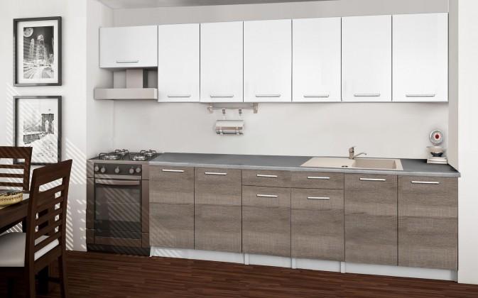 Basic - Kuchyňský blok F, 300/240 cm (bílá, trufle, titan)
